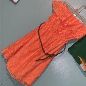 Mini Orange 🍊 Beach Dress